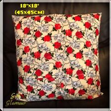 "18"" Inches 45 cm Cushion Skulls Crossbones Fabric Decoration Sofa Pirate Room"