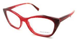 Alain Mikli Rx Eyeglasses Frames A03060 F003 54-16-140 Marbled Red / Black