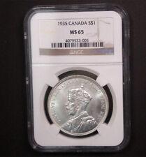 Canada 1935 George V Dollar NGC MS 65  #250110