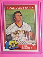 1981 Topps Set Break 300 Paul Molitor Milwaukee Brewers NrMt NM Sharp! HOF