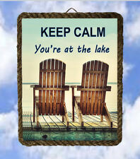 Lake 20 Lake House boat Gifts Lake Decor Art Prints Keep Calm ventage framed