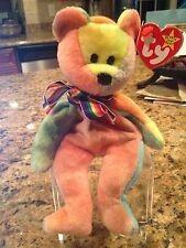Rare TY Beanie Baby Jerry Garcia - Oddity Extra Canadian Tush PVC Rainbow Ribbon