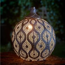Large Vintage Gold Moroccan Eastern Style Metal Lantern Candle Table Decoration