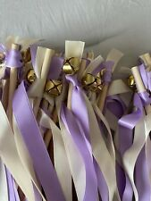 Ribbon Wands with Bells for Wedding Birthdays Events (89 Total)