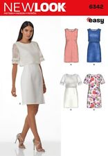 New Look Ladies Easy Sewing Pattern 6342 Simple Shift Dresses (NewLook-6342)