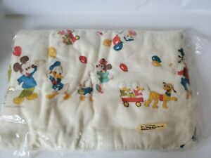 Vintage New 3 Pack Receiving Blanket Mickey Mouse Pluto Donald Duck Minnie 30x40