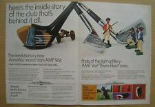 1968 AMF Voit Golf Clubs Power Flare Irons 2-pages Color AD