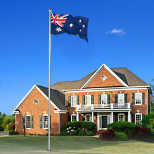 7.6M Flag Pole Aluminum Sectional Flagpole Australian Flag Gold Ball Final Kit