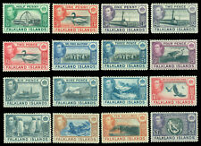 British Colonies - FALKLAND ISLANDS 1938 KGVI  Pictorial set  Sc# 84-96 mint MLH