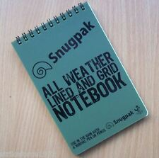 NEW - Snugpak Waterproof All Weather Field Notebook - with Lined and Grid Pages