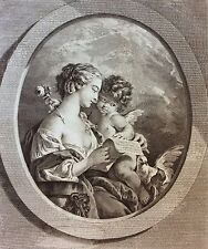 François Boucher la femme à la lettreTirage circa 1950 39,5cm par 33 cm