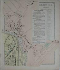 Original 1872 Map BERWICK VILLAGE Maine SOMERSWORTH New Hampshire Great Falls RR