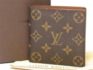 Authentic LOUIS VUITTON Monogram Portefeuille Marco Wallet M61675 Men 18629105