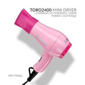 IZUTECH TORO 2400 Mini Foldable DC TRAVEL HAIR DRYER - PINK