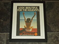 Air Jamaica-1976 Original advert framed & mounted