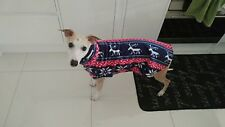 dog Snood jumper fleece house coat whippet lurcher greyhound Nordic reindeer 26""