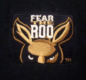 UNIVERSITY AKRON Zips youth small T shirt Ohio kangaroo tee Fear the Roo sewn