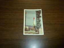 MISSILES AND SATELLITES trading card #37 PARKHURST 1958 space rockets planets