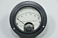 Vintage Weston 0 100 Miliamperes Dc Panel Meter Model 301 Round 3375 Xs