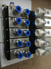 4V210-08 110VAC 5 station pneumatic solenoid valve manifold/island 5/2 Function