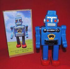 Robot en métal sérigraphié. ROBOT BLEU Hauteur 23 cm. Chine MS 360. Neuf