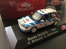 MAZDA 323 GTX MIKKOLA RALLYE MONTE CARLO 1991 RALLY IXO ALTAYA 1/43 WRC