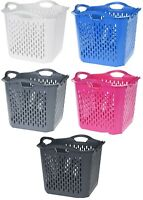 Square Large Deep Laundry Basket Washing Clothes Basket Stackable Bright Colours