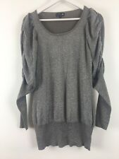 Womens Ladies Sweatshirt Blouse Top Grey Sparkling Papaya Occasion Wear Size 10
