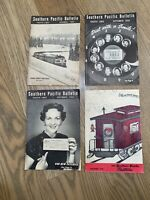 Southern PACIFIC BULLETIN 4 Volumes 1952,1953,1956,1959