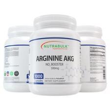 NutraBulk Premium Arginine AKG (Alpha KetoGlutarate) 500mg Capsules - 1000 count