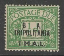 "B.O.I.C.-TRIPOLITANIA SGTD6a 1950 1l on ½d ""NO STOP AFTER B"" VARIETY MNH"