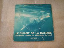 mini 33 tours le chant de la baleine (dauphins, otaries et elephants de mer)
