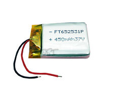 3.7V 450 mAh Li-polymer Lithium Rechargeable 652531 for bluetooth mp3 mp4 reader