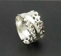 Stylish sterling silver ring solid 925 large band R000602 Empress