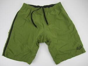 Mens XL Fox Racing padded MTB mountain biking padded baggy green shorts