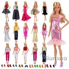 Miunana 5 Abiti 10 PCS Scarpe selezionati a caso per bambola barbie dolls