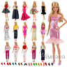 Bundle 5 Random Style Fashion Handmade Clothes/Outfit +10 Shoes For Barbie Doll