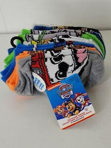 Nick Jr Paw Patrol Little Boys No Show Socks Marshall Rubble Chase 8 Pairs Small