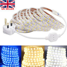 LED Strip Lights Mains Plug 5050 Waterproof Commercial Flexible Rope Light 220V