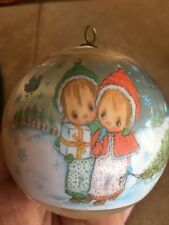 Hallmark Cards 1979 Collector's Satin Ornament Precious Moments Holiday Fun