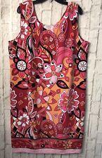 Casual Corner Annex Women's Dress Size 1X Sleeveless Multi Colored Flower (2)k