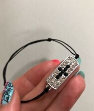 Bracelet Cross Black Handmade Adjustable