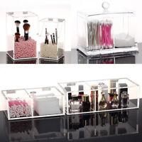 Women Clear Makeup Holder Jewelry Organizer Acrylic Cosmetic Case Storage Box