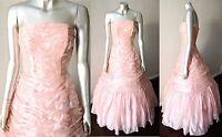 Princess Full Circle Vintage 50s Wedding Bridal Party Pink Dress Ball Gown Sz S