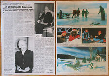 JACQUES COUSTEAU 2 page 1983 spanish magazine article clippings photos