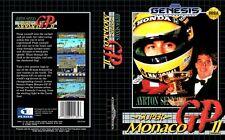 Ayrton Sennas Super Monaco GP2 Sega Replacement Box Art Case Insert Cover Scan