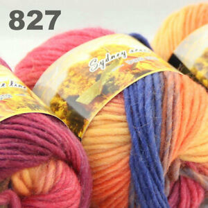 SALE LOT of 3 Skeins x 50g NEW Chunky Colorful Hand Knitting Scores Wool Yarn 27