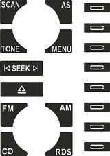 Set of Stickers to repair the buttons on your Audi A2/ A4/ A6 Concert Radio