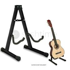 More details for folding metal guitar stand music electric acoustic free standing a frame stand