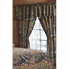 CAMO CAMOUFLAGE THE WOODS NEW 5 PC CURTAIN SET with PANELS, TIE BACKS, & VALANCE